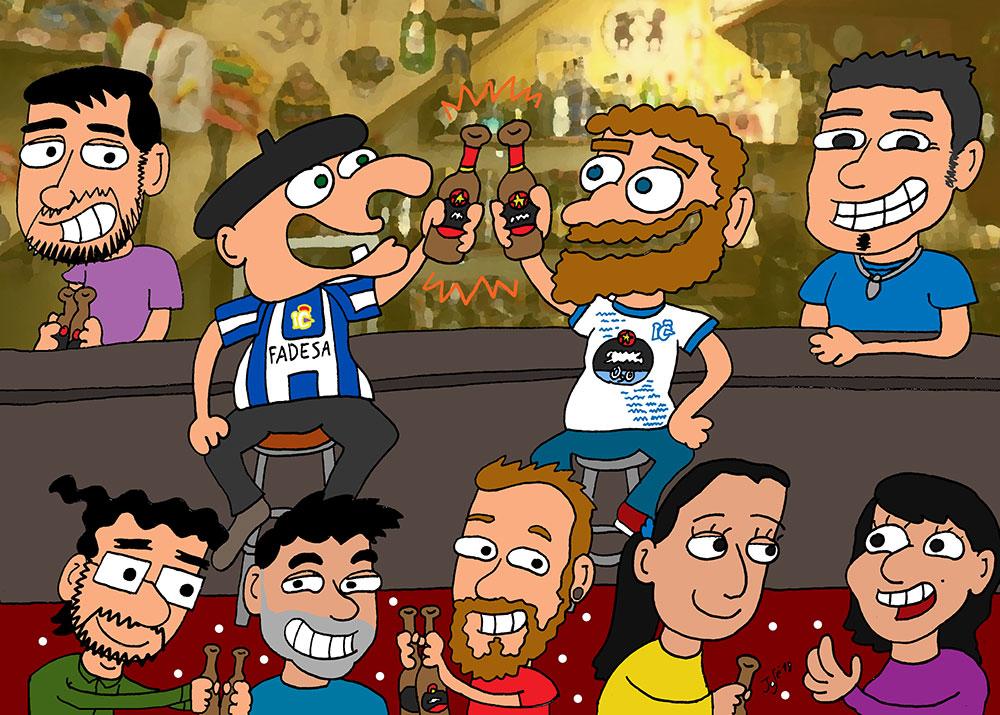 Caricatura Bar Chaflan