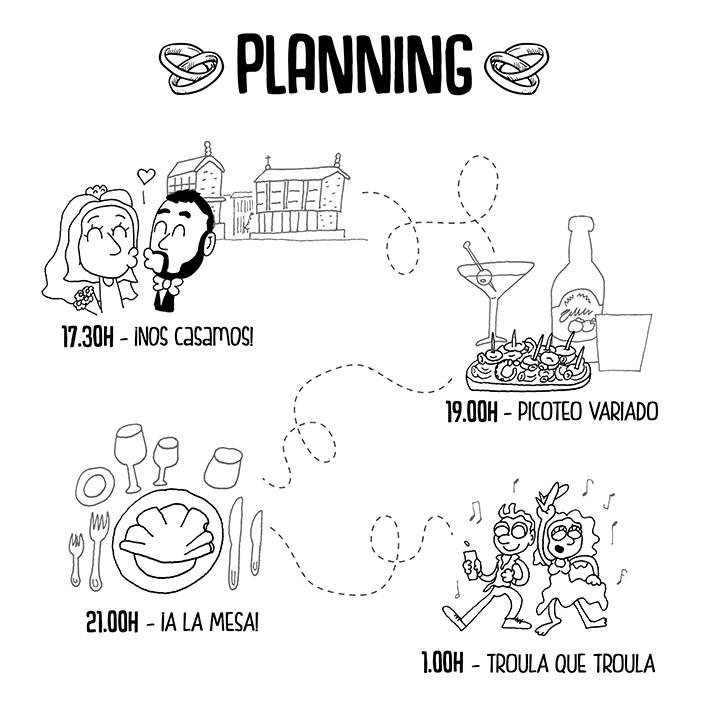 Planning Boda AsturGalaica