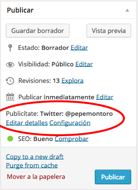 integrar twitter con wordpress