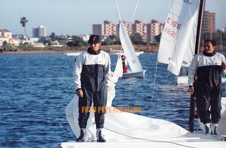El Príncipe Felipe estuvo navegando en La Manga sin Isabel Sartorius