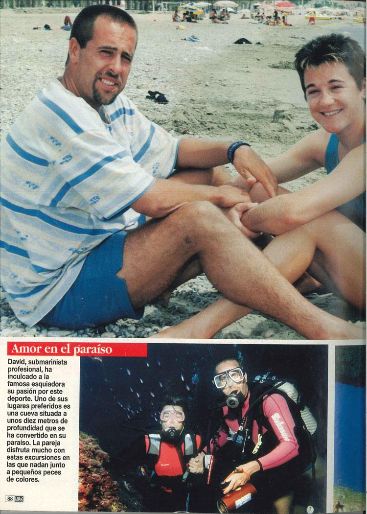 Blanca Fernández Ochoa anunció su primer embarazo haciendo submarinismo en Mazarrón