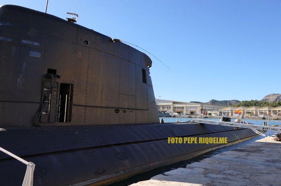 Entre submarinos y torpedos en Cartagena