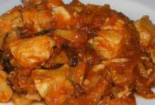 Bocconcini di pollo con funghi porcini al peperoncino piccante
