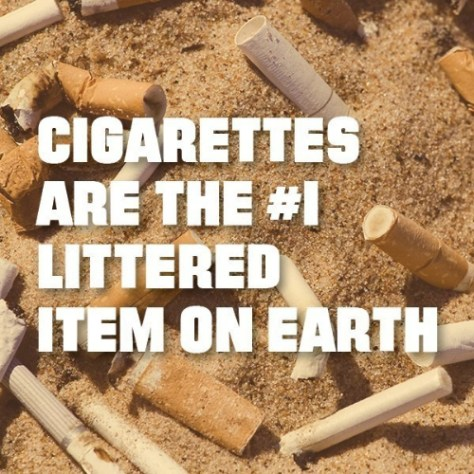 Cigarettes are the most littered item on earth. (PRNewsFoto/DoSomething.org)