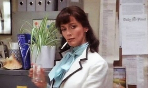 Lois Lane smoking
