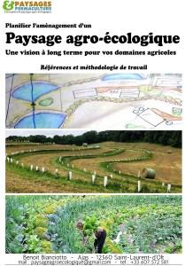 Plaquette de présentation 'Paysages agro-écologiques'.