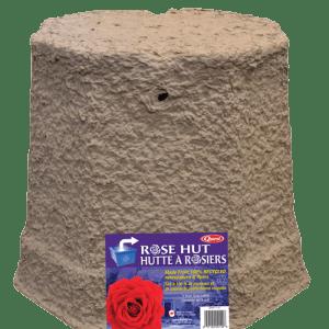 Hutte à rosiers fait de papiers recyclés
