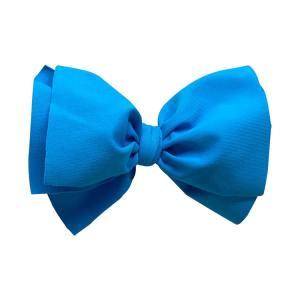 lazo pelo niña lycra azul