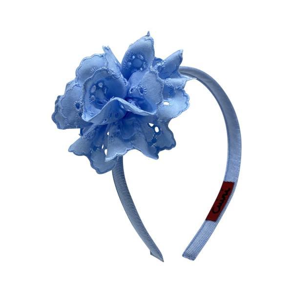 diadema azul niña