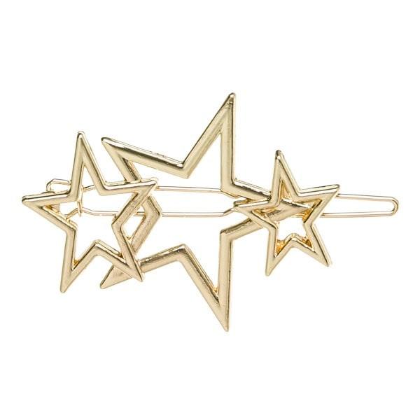 horquilla estrellas oro