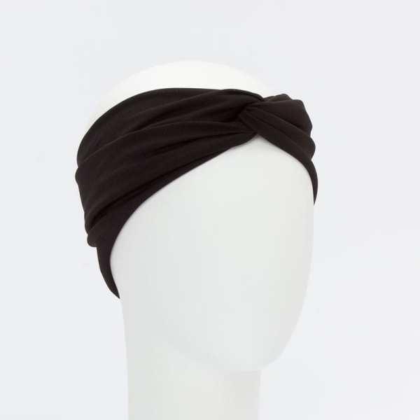 turbante mujer color negro