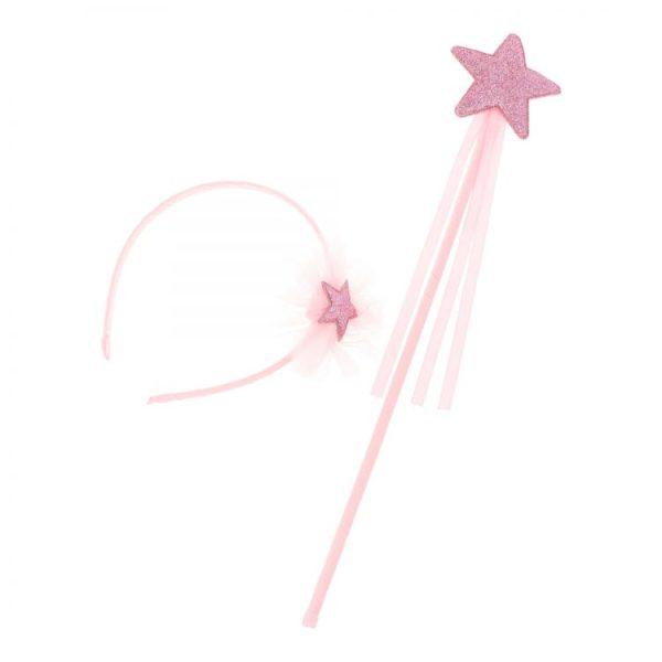 diadema princesa para niñas con varita
