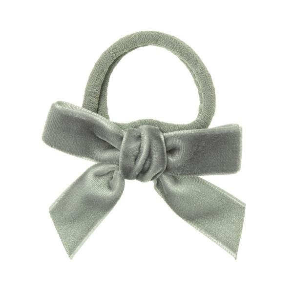 lazo terciopelo gris