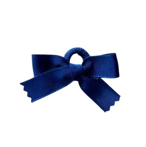 mini goma con lazo azul marino