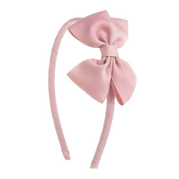 diadema rosa con lazo