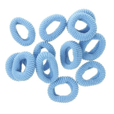 mini gomas de pelo azulonas