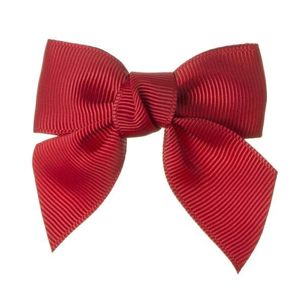 pinzas de pelo para niñas color rojo con lazo