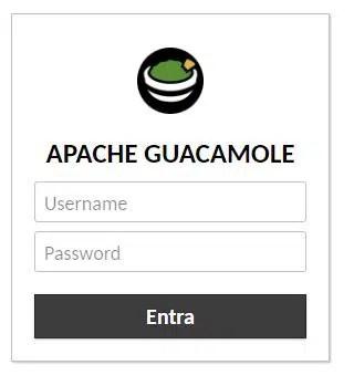 Apache Guacamole RPI login