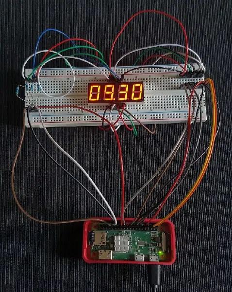 RPI 4 digit 7 segment Display picture