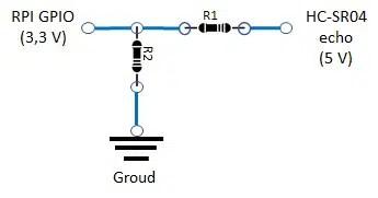 RPI HC-SR04 resistore organization