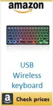 Amazon USB Wireless Keyboard box