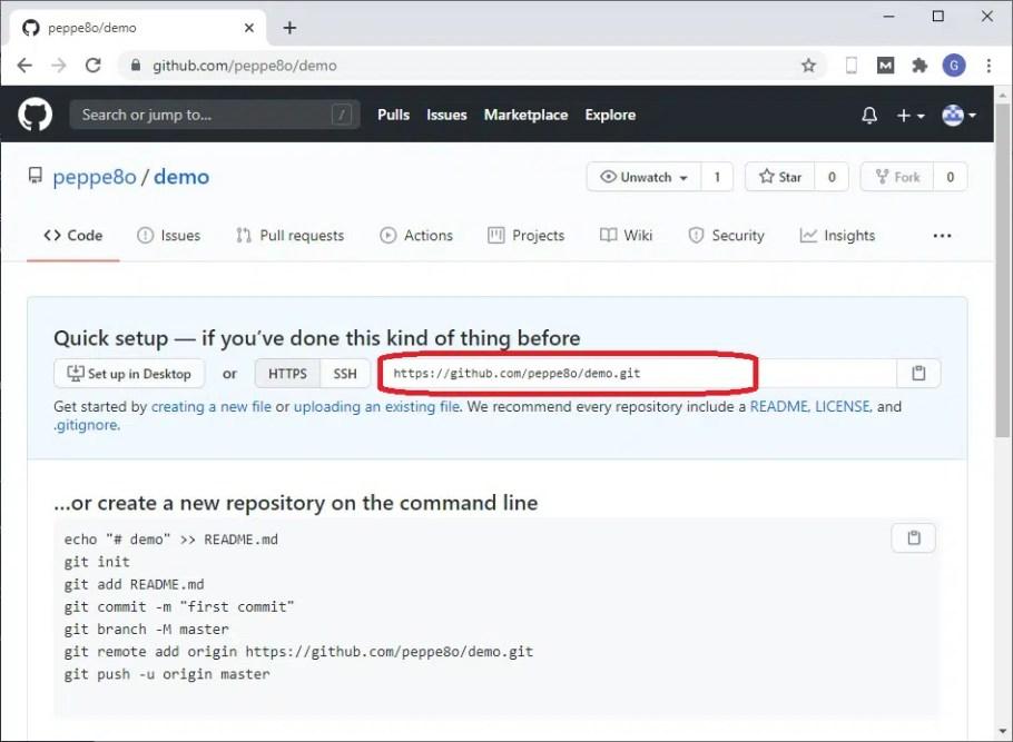 GitHub demo Repository created