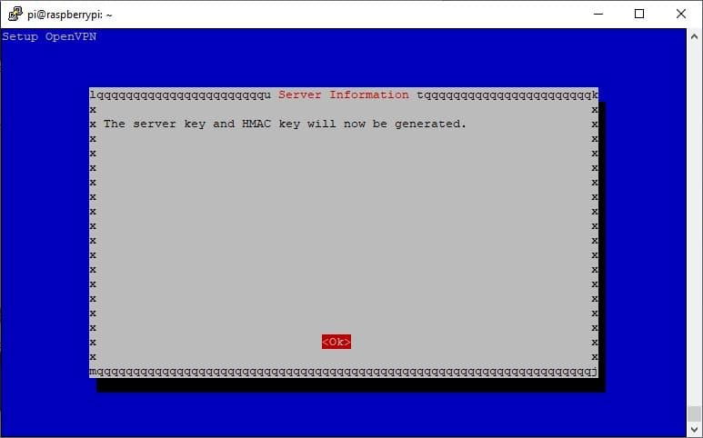 raspberry pi pivpn server setup 16