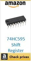 Amazon 74hc595 shift register box
