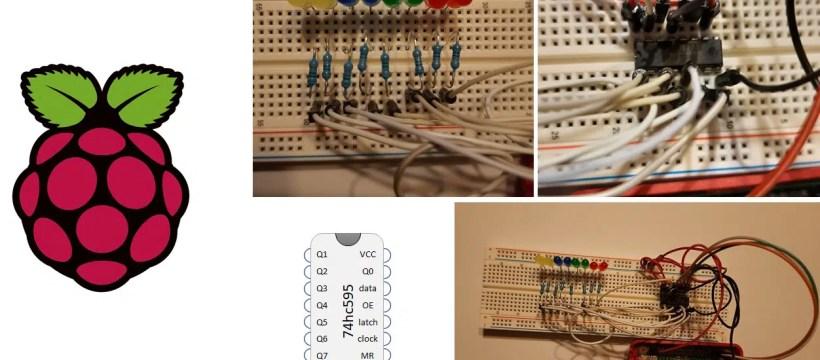 Raspberry PI 74hc595 shift register featured image