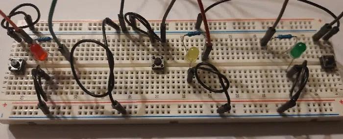 Raspberry PI Reaction game wiring breadboard details