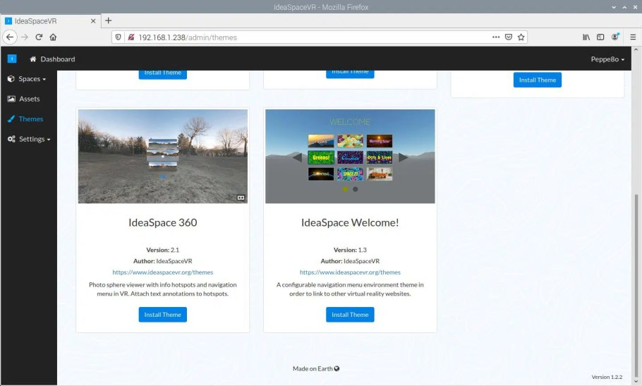 IdeaSpaceVR Theme install 360