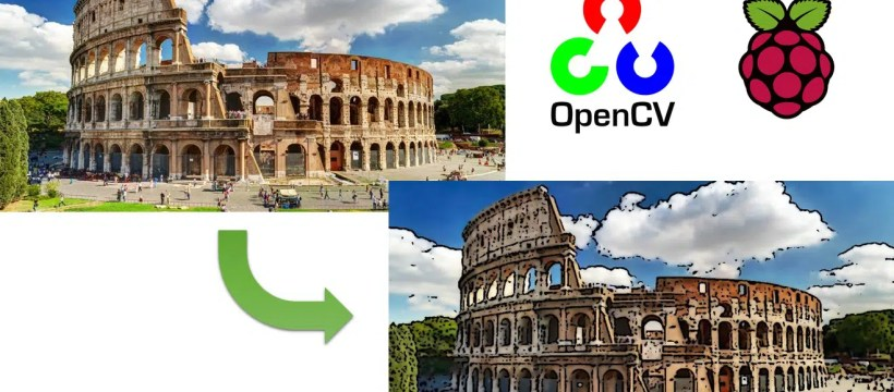 Raspberry pi opencv cartoonize featured image