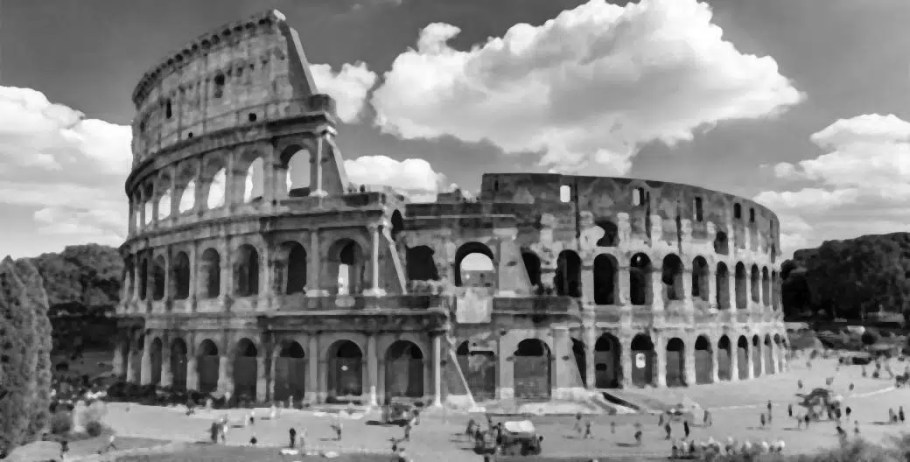 colosseum opencv gray blur filter