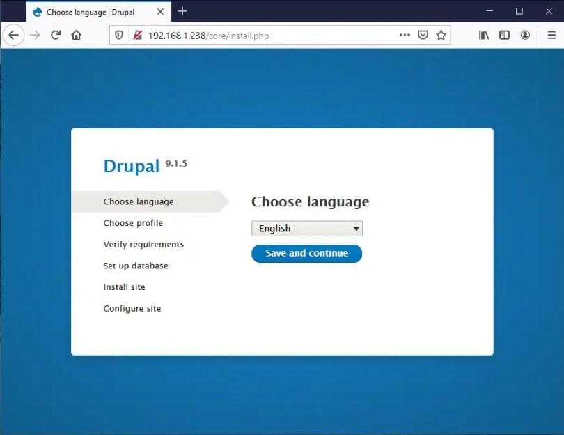 Raspberry PI Drupal install - 01
