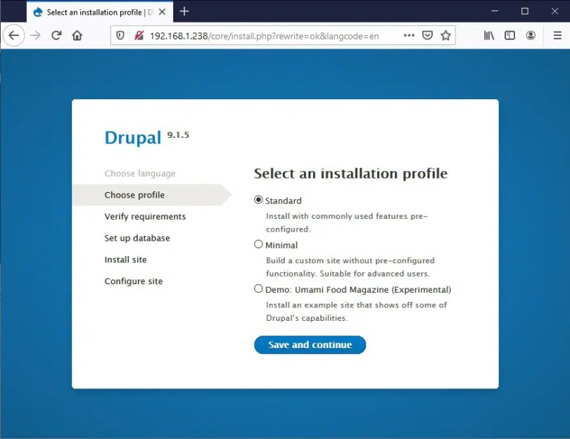 Raspberry PI Drupal install - 02 profile