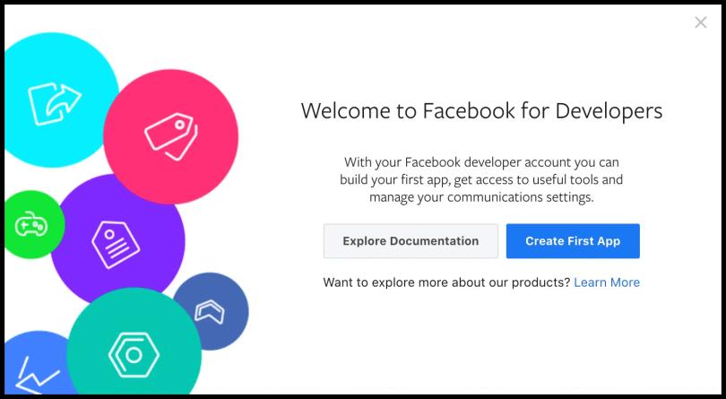 Facebook Developer API registration - 02