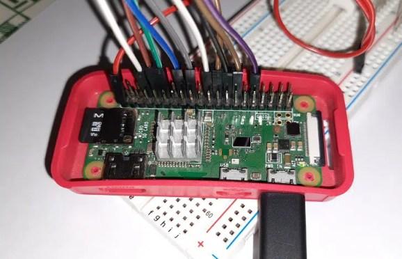 Raspberry PI 10 segment led bar details cabling