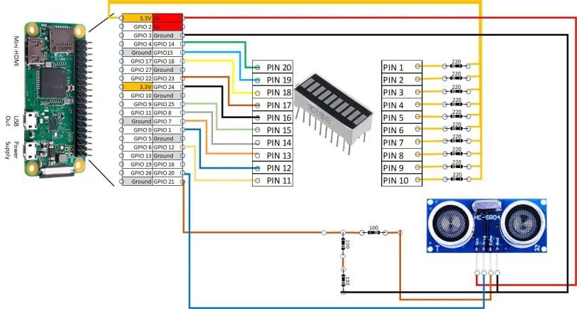 Raspberry PI parking sensor wiring