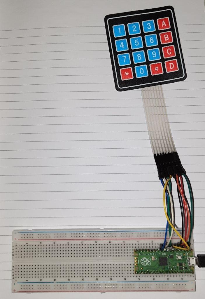 Raspberry pi pico 4x4 keypad wiring details 01