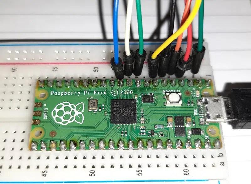 Raspberry pi pico 4x4 keypad wiring details 02