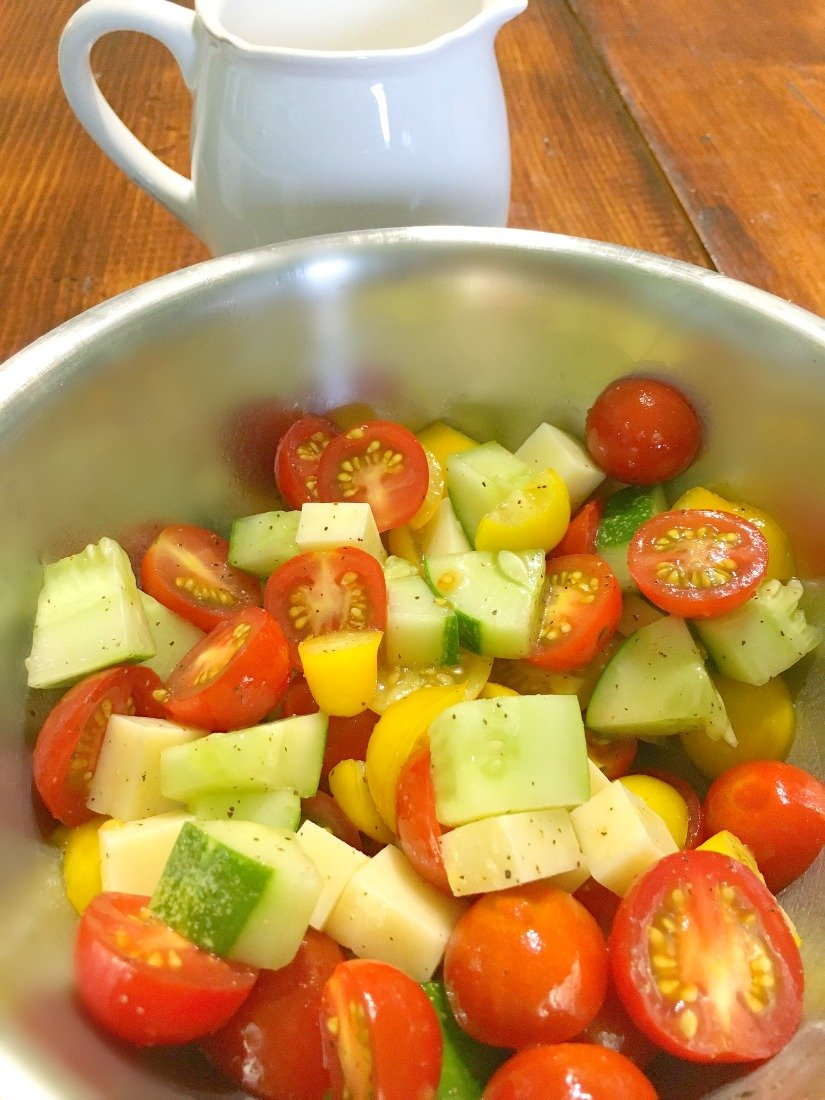 sweet summer tomato salad-pbnb-easy