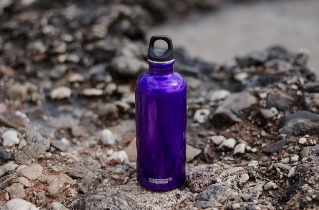 Photo of stainless steel water bottle that is a good example of intentional gift giving