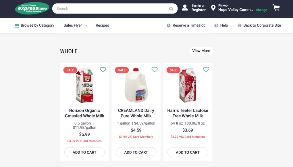 image of online grocery ordering which is good when buying food during a crisis