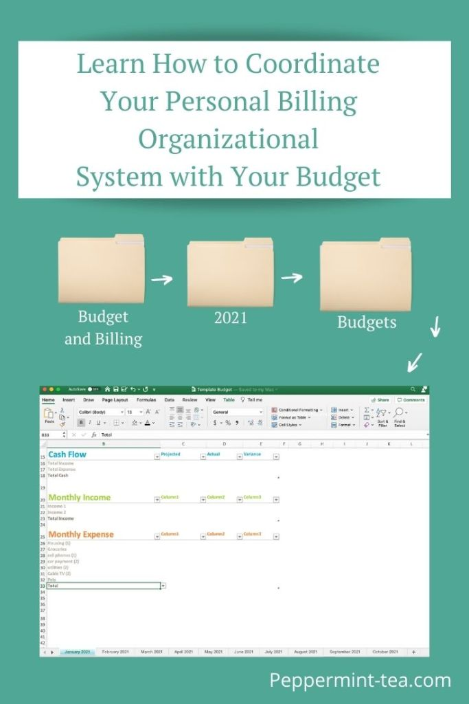 Photo of how to organize personal billing system