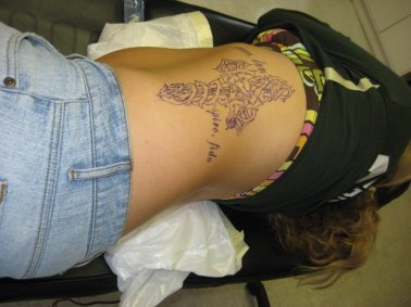 The stencil is set