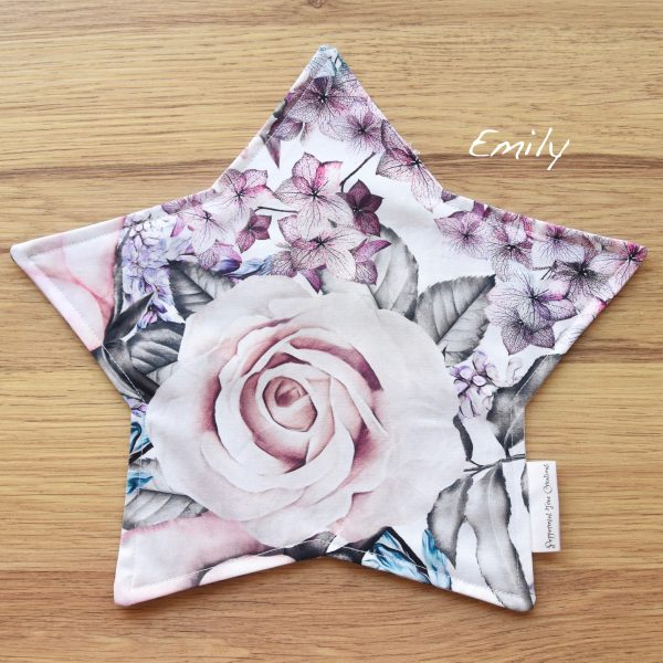 Star Cushion Floral Print - Limited Release fabric print - Emily