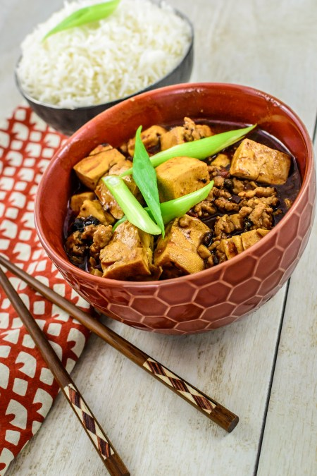 Mapo Tofu in Bowl from Pheonix Claws and Jade Trees