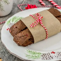 Chocolate Candy Cane Biscotti