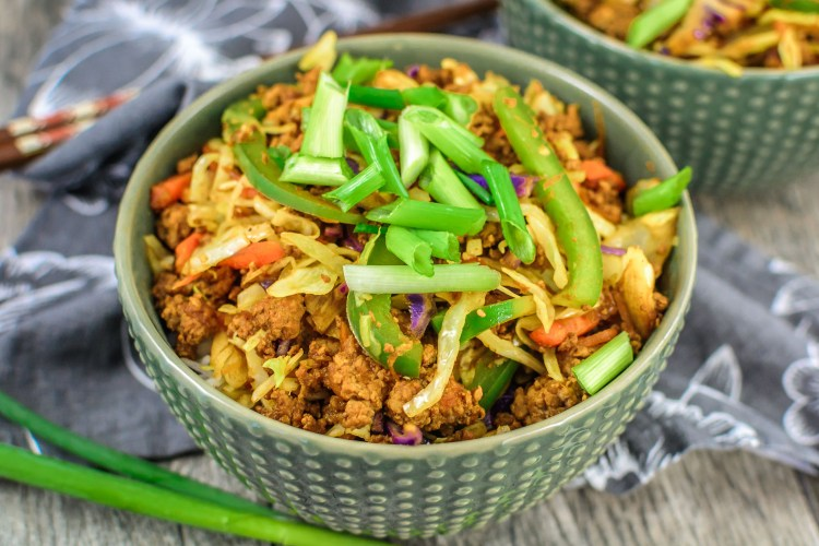 Budget Egg Roll Rice Bowl