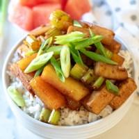 Ginger, Watermelon Rind & Tofu Stir-Fry